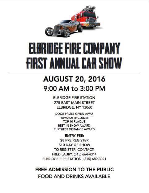 Elbridge Fire Company Fist Annual Car Show Apex Automotive Magazine - Car show award categories