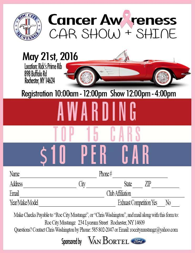 ROC City Mustangz Cancer Awareness Car Show Shine Apex - Car shows in washington state
