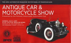 Apex Invitational at Fountain Elms in conjunction with the Munson Williams car show @ Utica | New York | United States