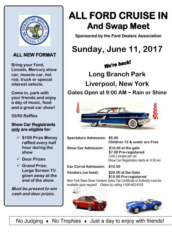 All Ford Cruise In and Swap Meet @ Long Branch Park | Liverpool | New York | United States