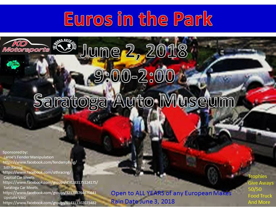 Euros in the Park 2018 @ Saratoga Automobile Museum | Saratoga Springs | New York | United States