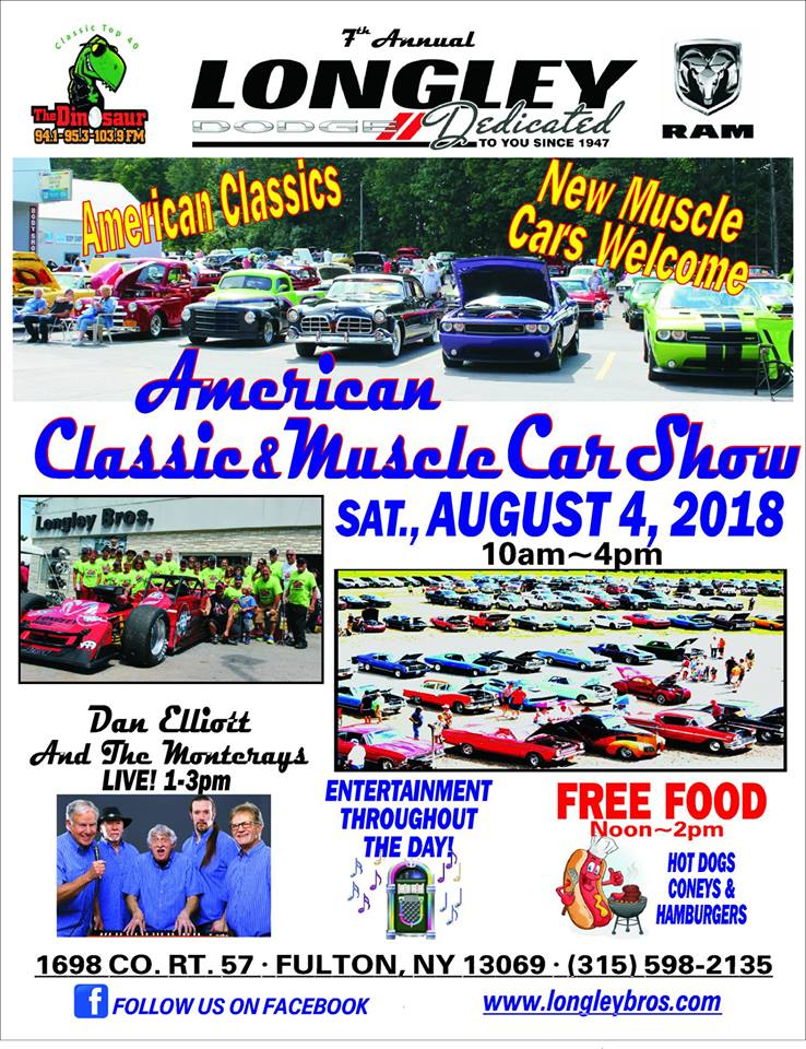 Th Annual American Classic Muscle Car Show Apex Automotive Magazine - Longley dodge car show