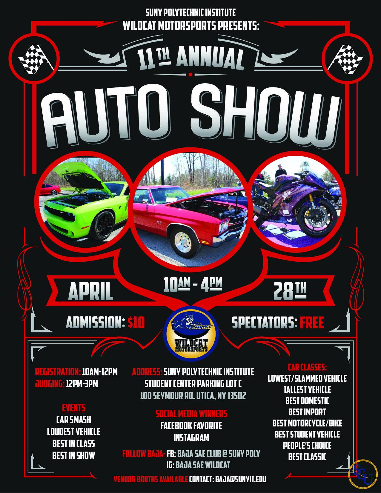 11th Annual SUNY Polytechnic Auto Show 2018 @ SUNY Polytechnic Institute | Utica | New York | United States