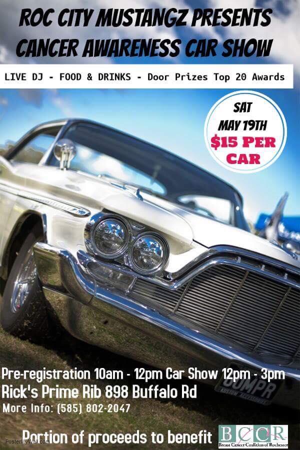 Roc City Mustangz Cancer Awareness Car Show Apex Automotive - Rochester car show