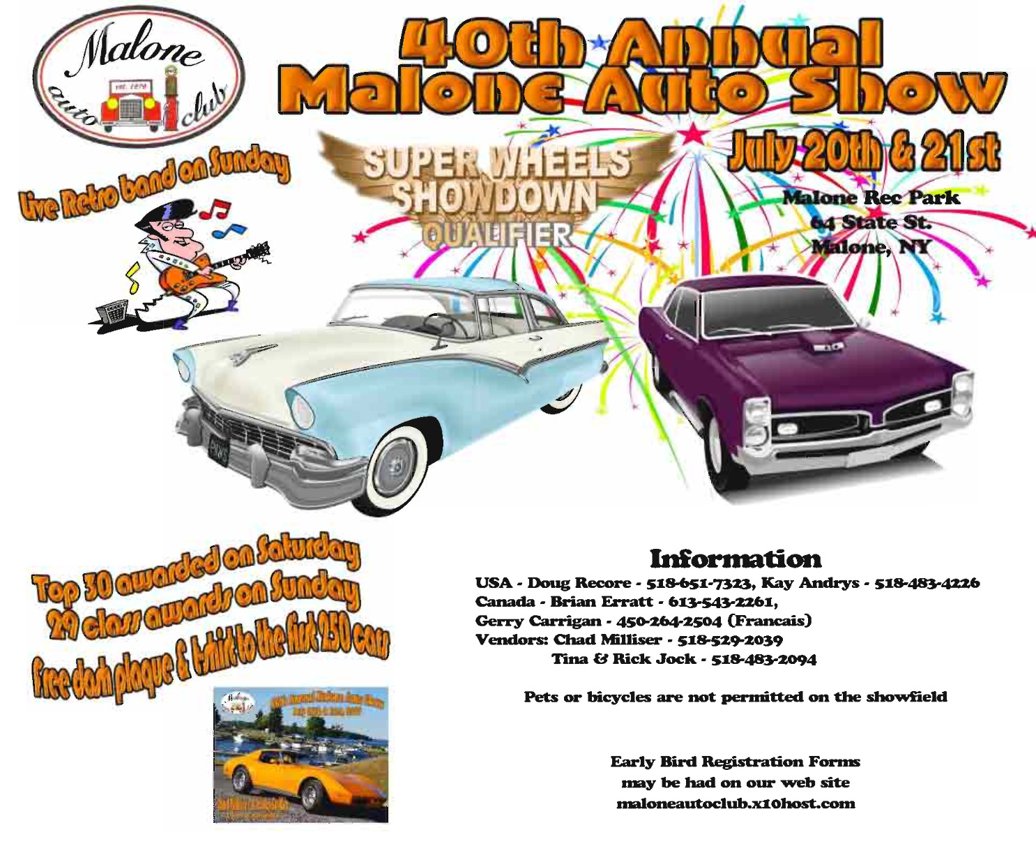 40th Annual Malone Auto Show and Flea Market 2019 @ Malone Red Park | Malone | New York | United States