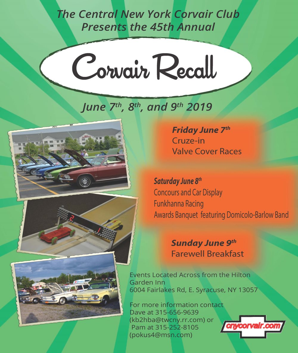 Cny Corvair Club 45th Annual Recall 2019 Apex Automotive Magazine