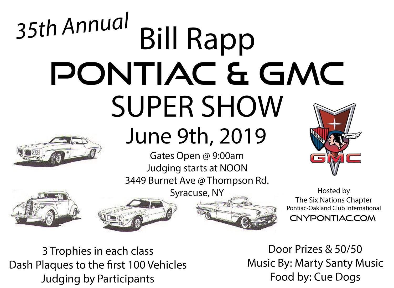 35th Annual Bill Rapp Pontiac & GMC Super Show 2019 | Apex