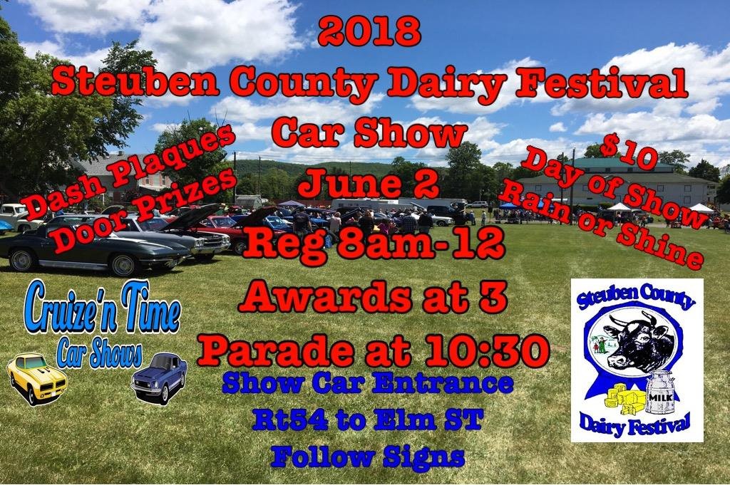 2018 Steuben County Dairy Festival Car Show @ Steuben County Fairgrounds | Bath | New York | United States