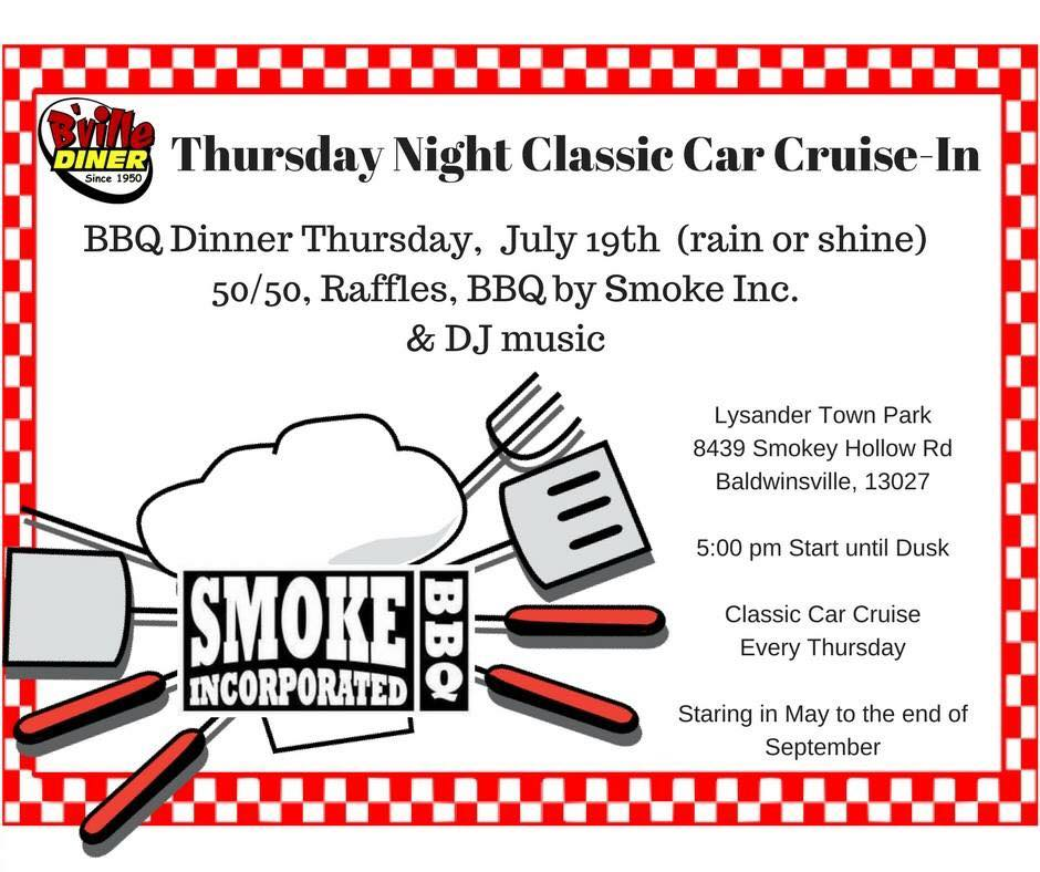 The B'Ville Diner Thursday Night Classic Car Cruise-In 2018 at Lysander Park @ Lysander Town Park | Baldwinsville | New York | United States