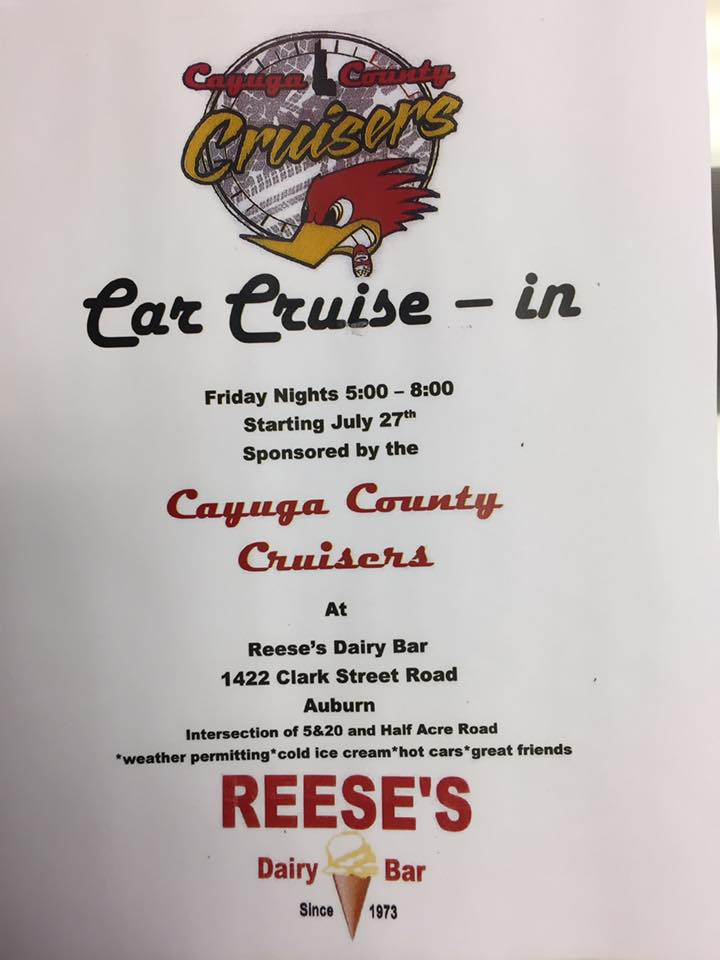 Cayuga County Cruisers Car Cruise-In 2018 @ Reese's Dairy Bar | Auburn | New York | United States