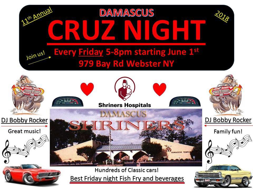 Damascus Shrine Cruise Nights 2018 @ Damascus Shrine Center | Webster | New York | United States