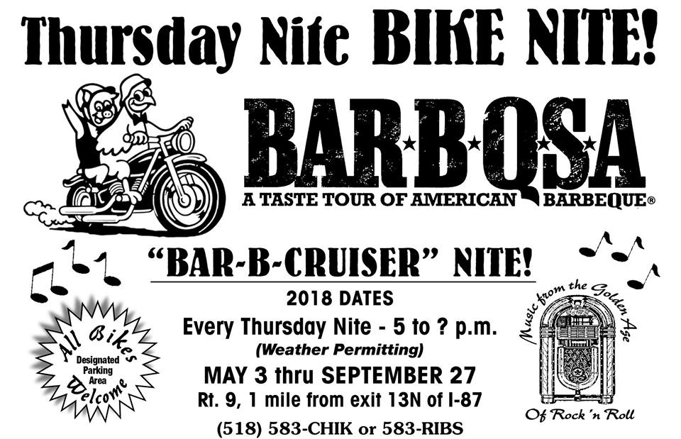 PJ's Bar-B-QSA Bike Night 2018 @ PJ's BAR-B-QSA | Saratoga Springs | New York | United States