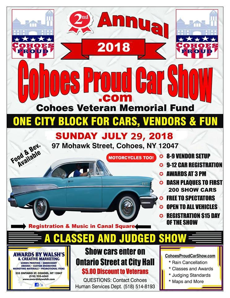 Nd Annual Cohoes Proud Car Show Apex Automotive Magazine - Car show promotional items