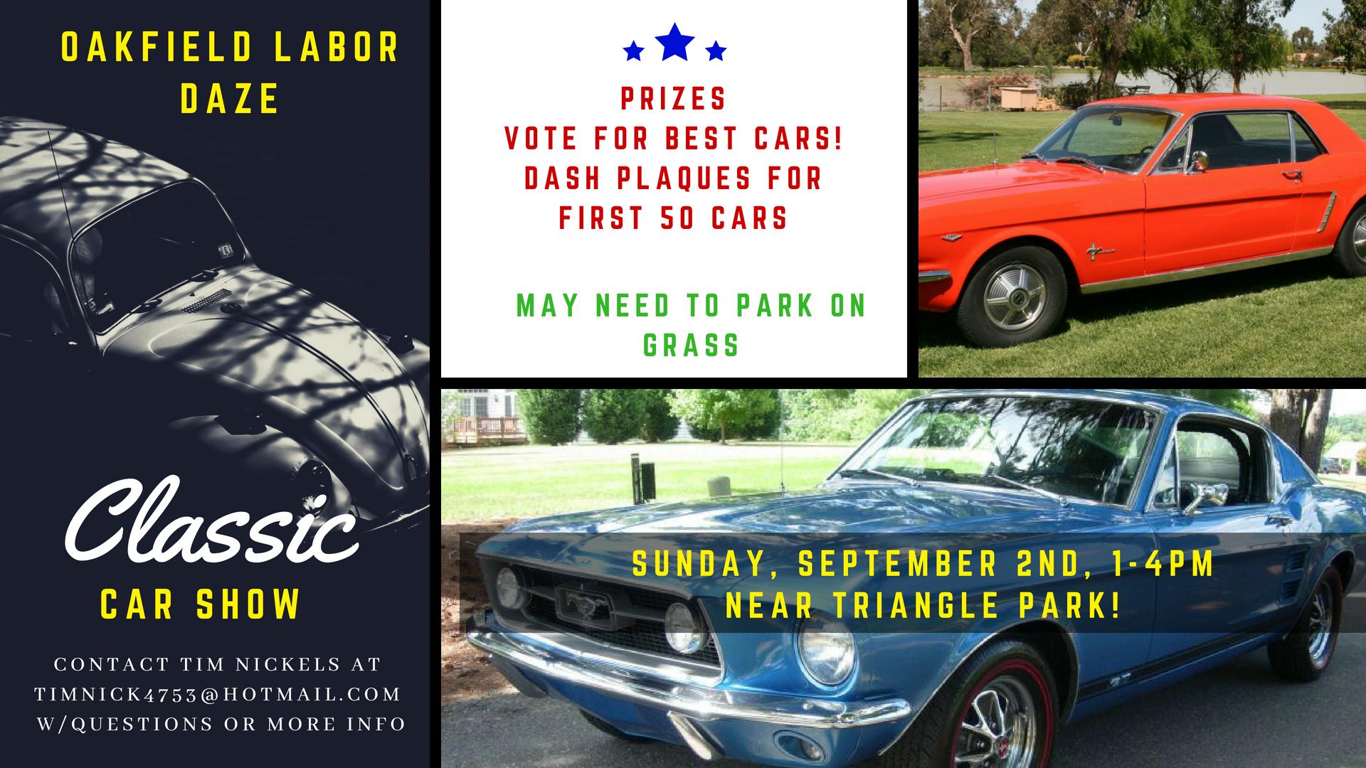 Oakfield Labor Daze Classic Car Show Apex Automotive Magazine - Classic car shows near me 2018