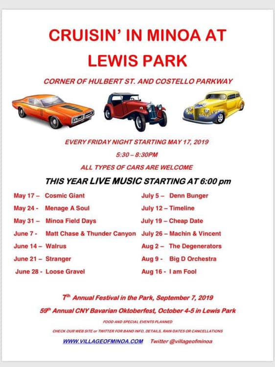 Cruisin' in Minoa at Lewis Park 2019 @ Lewis Park | Minoa | New York | United States