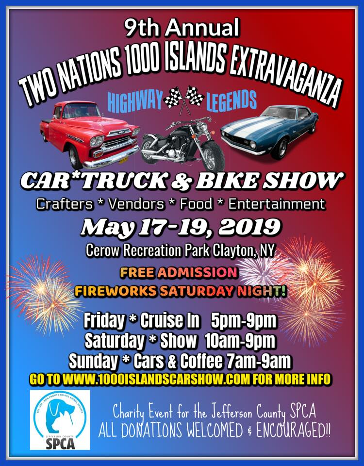 9th Annual Two Nations 1000 Islands Extravaganza 2019 @ Gordon Cerow Recreation Park