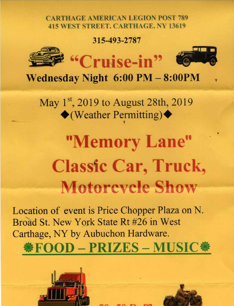 Memory Lane Cruise-In 2019 @ Price Chopper Plaza