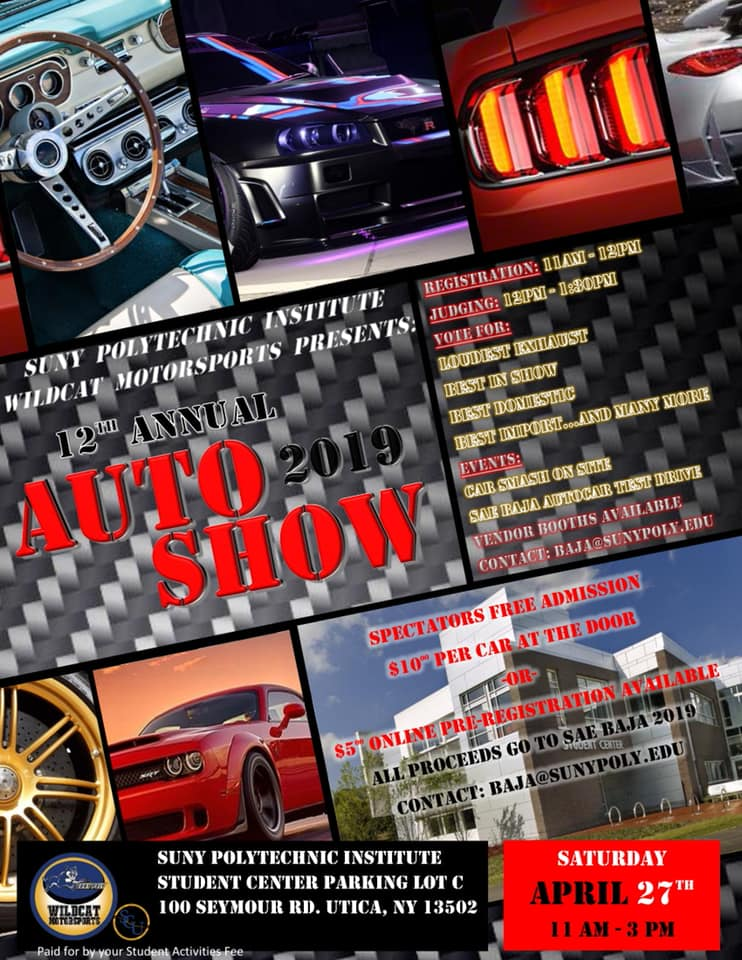 12th Annual SUNY Polytechnic Auto Show 2019 @ SUNY Polytechnic Institute