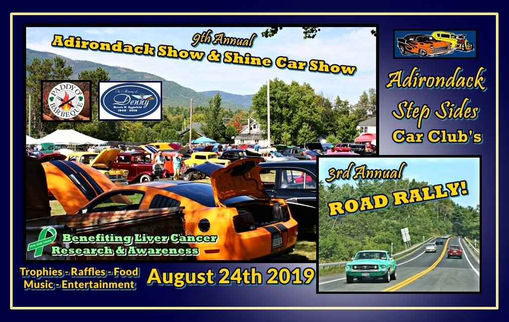9th Annual Adirondack Show & Shine Car Show & 3rd Annual Adirondack Step Sides Car Club's Road Rally 2019 @ Adirondack Show & Shine Car Show