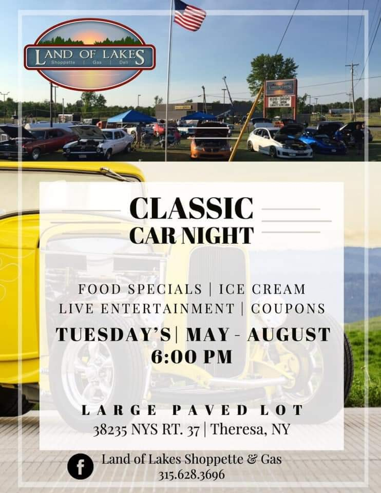 Land of Lakes Shoppette & Gas Classic Car Night 2019 @ Land of Lakes Shoppette & Gas