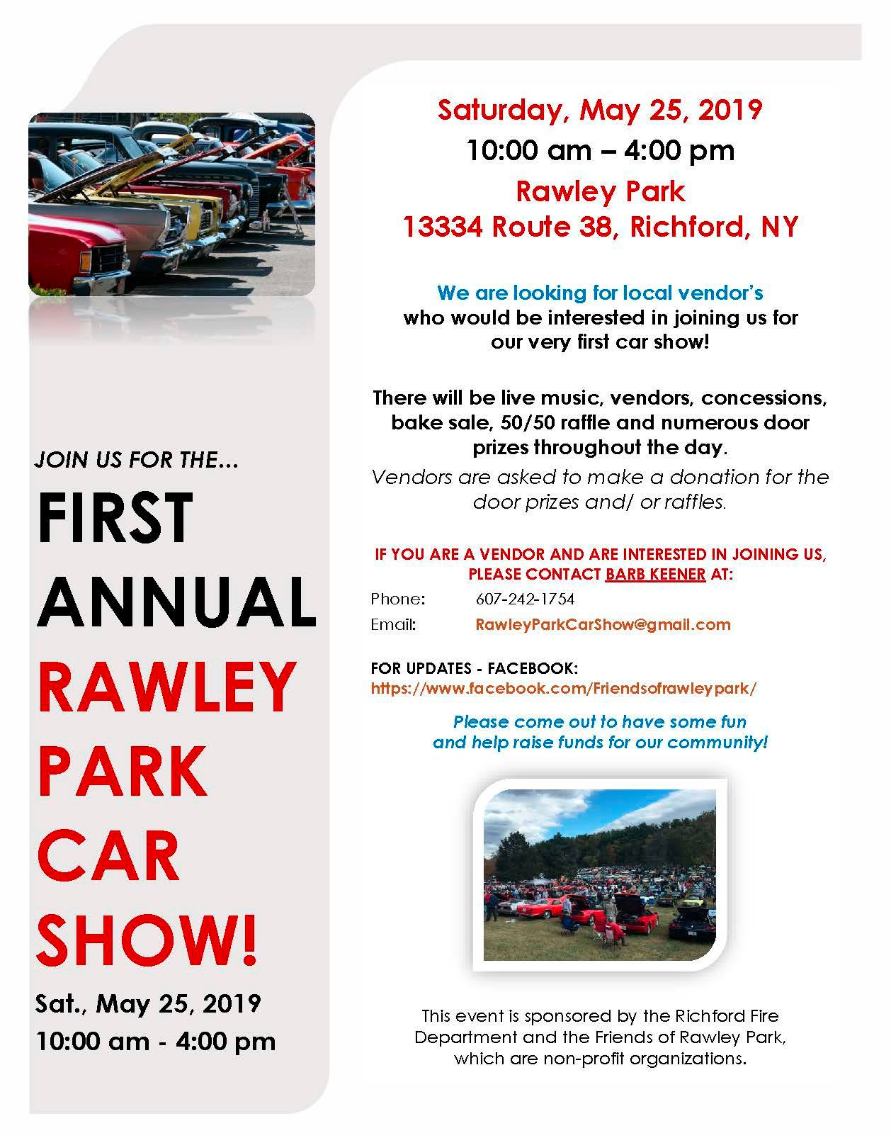 First Annual Rawley Park Car Show 2019 @ Rawley Park