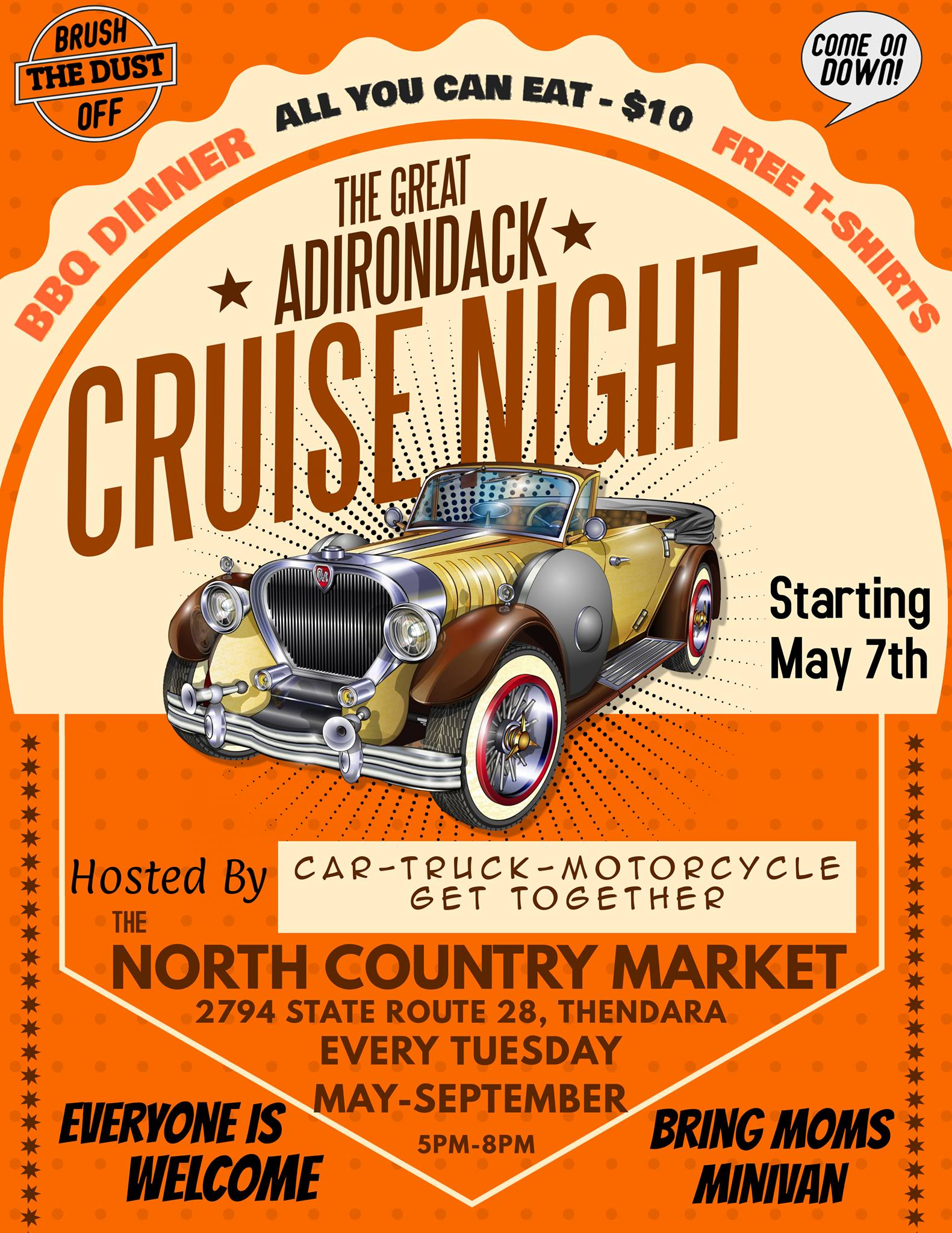 The Great Adirondack Cruise Night 2019 @ North Country Market/Sunoco