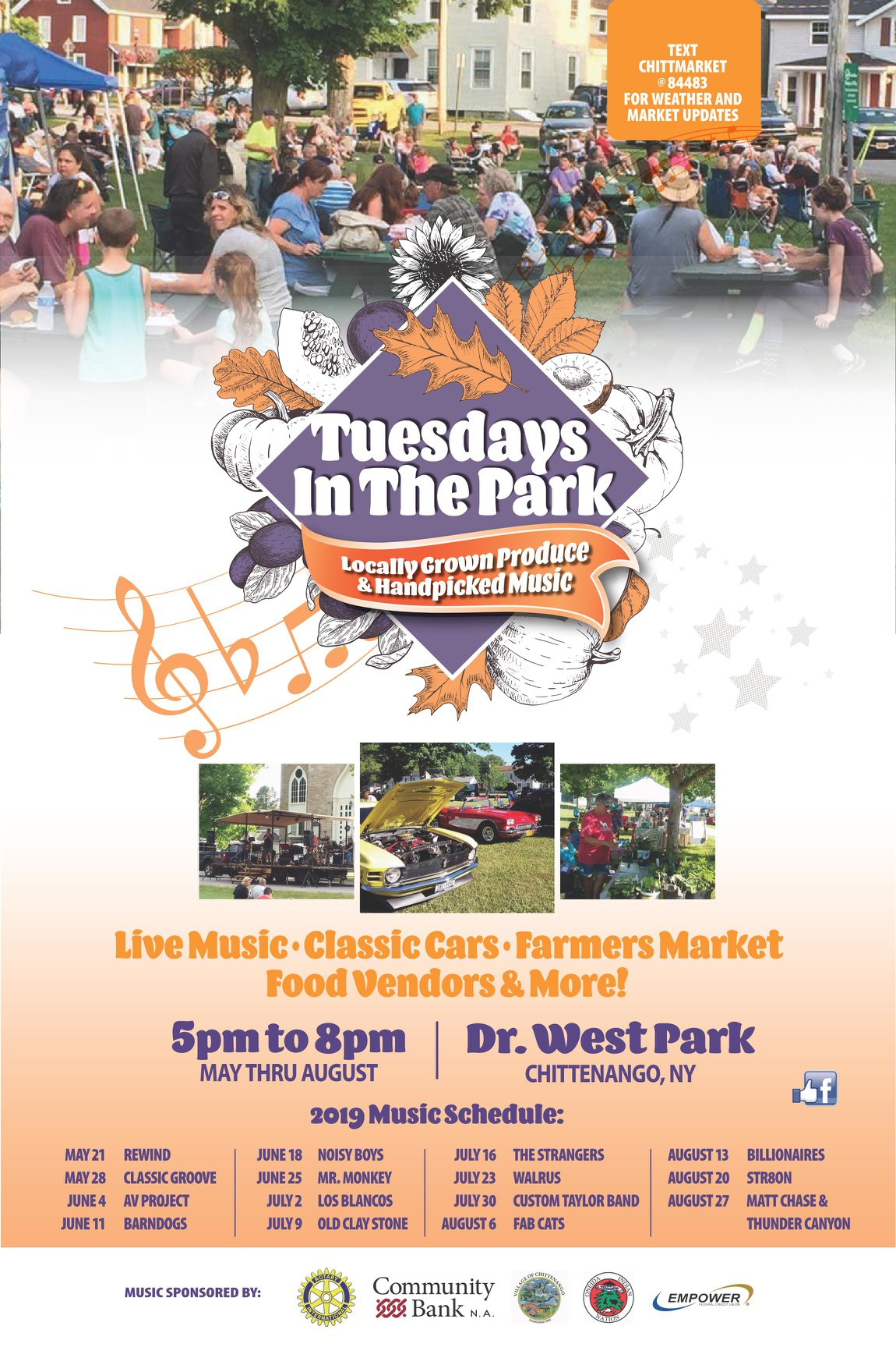 Chittenango Tuesdays in the Park 2019 @ Dr. West Memorial Park