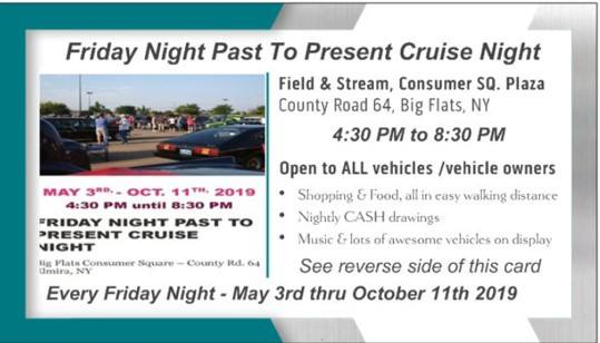 Friday Night Past To Present Cruise Night 2019 @ Big Flats Consumer Square