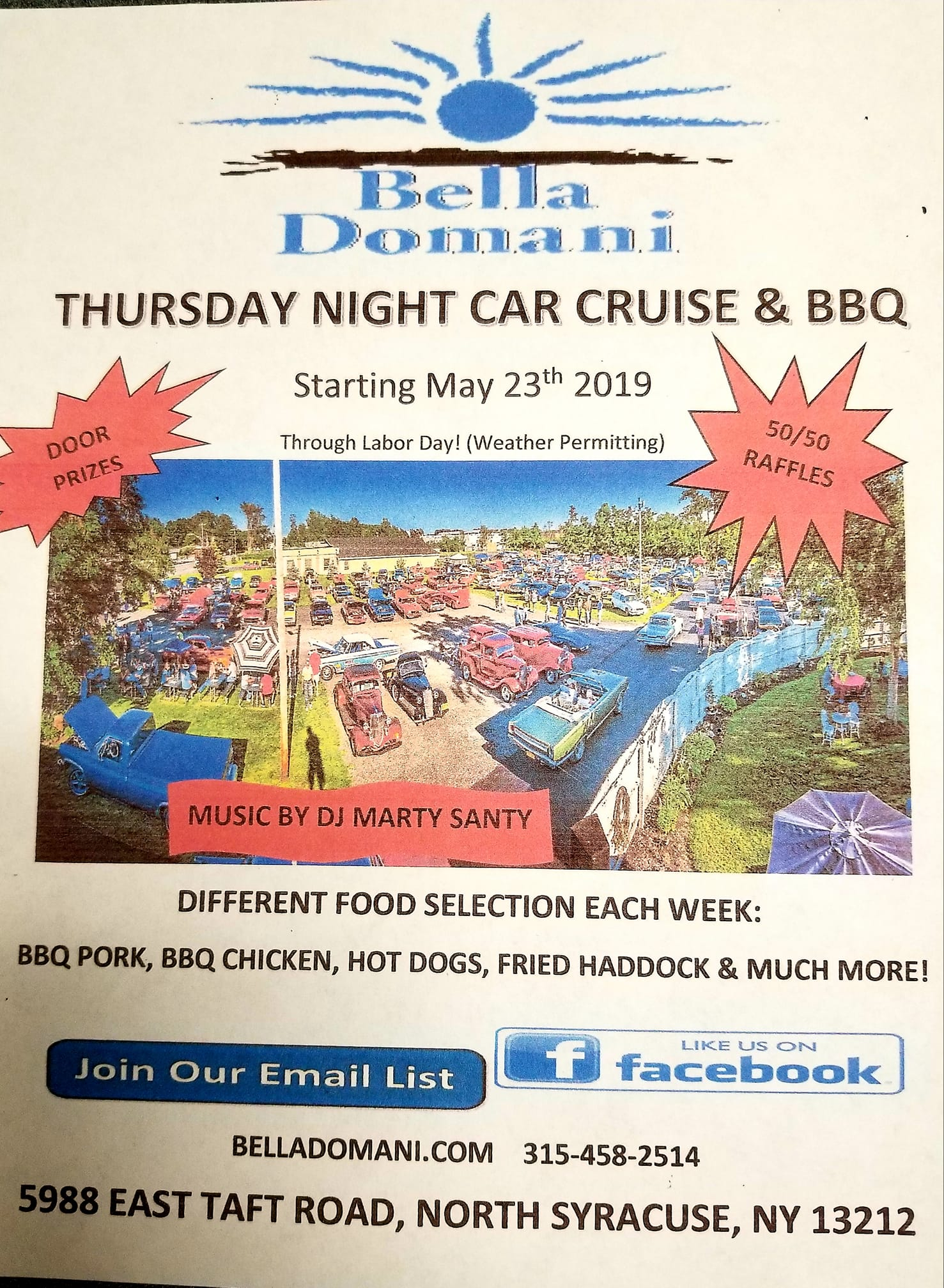Thursday Night Car Cruise 2019 @ Bella Domani Catering & Banquets