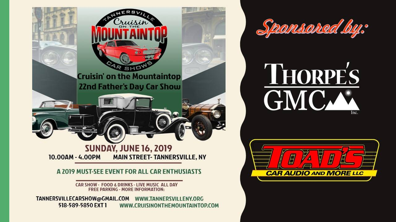 Tannersville Cruisin' On the Mountaintop Father's Day Car Show 2019