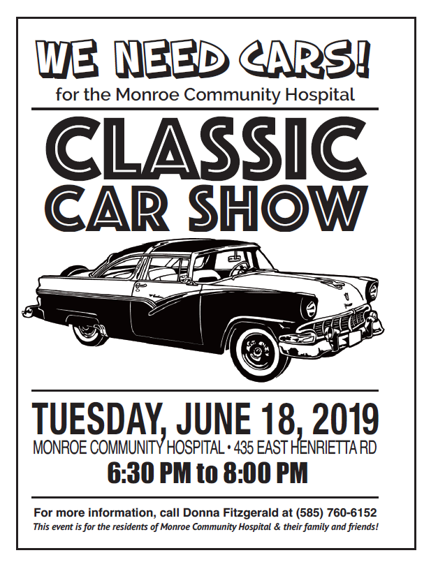 Monroe Community Hospital Classic Car Show 2019 @ Monroe Community Hospital