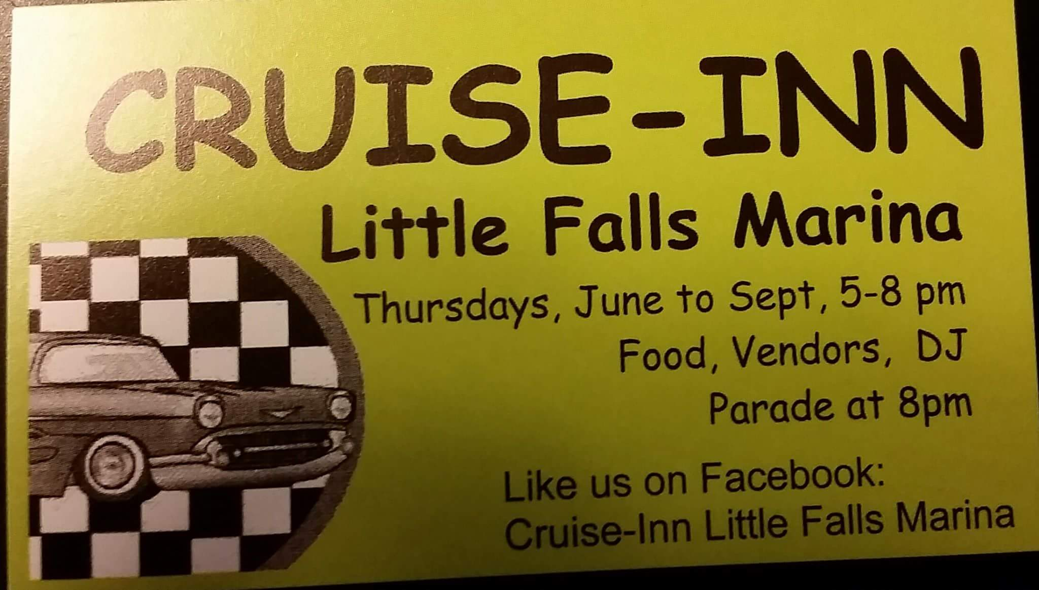 Cruise-Inn at the Little Falls Marina 2019 @ Little Falls Marina - Rotary Park
