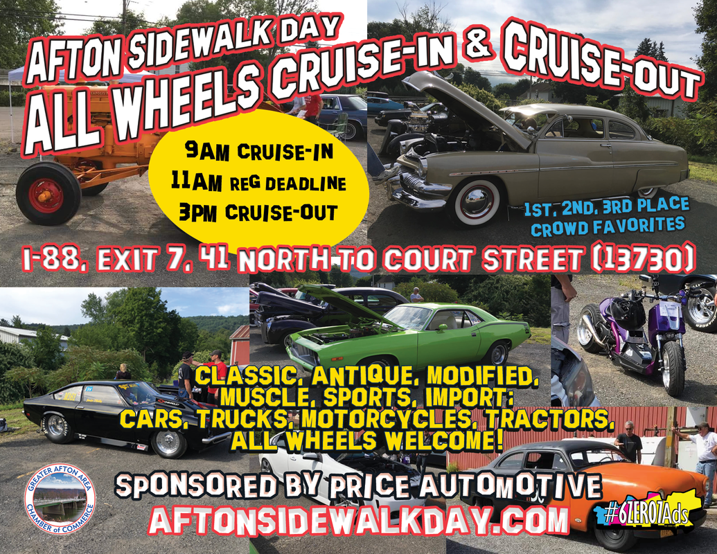 Afton Sidewalk Day All Wheels Cruise-In & Cruise-Out 2019