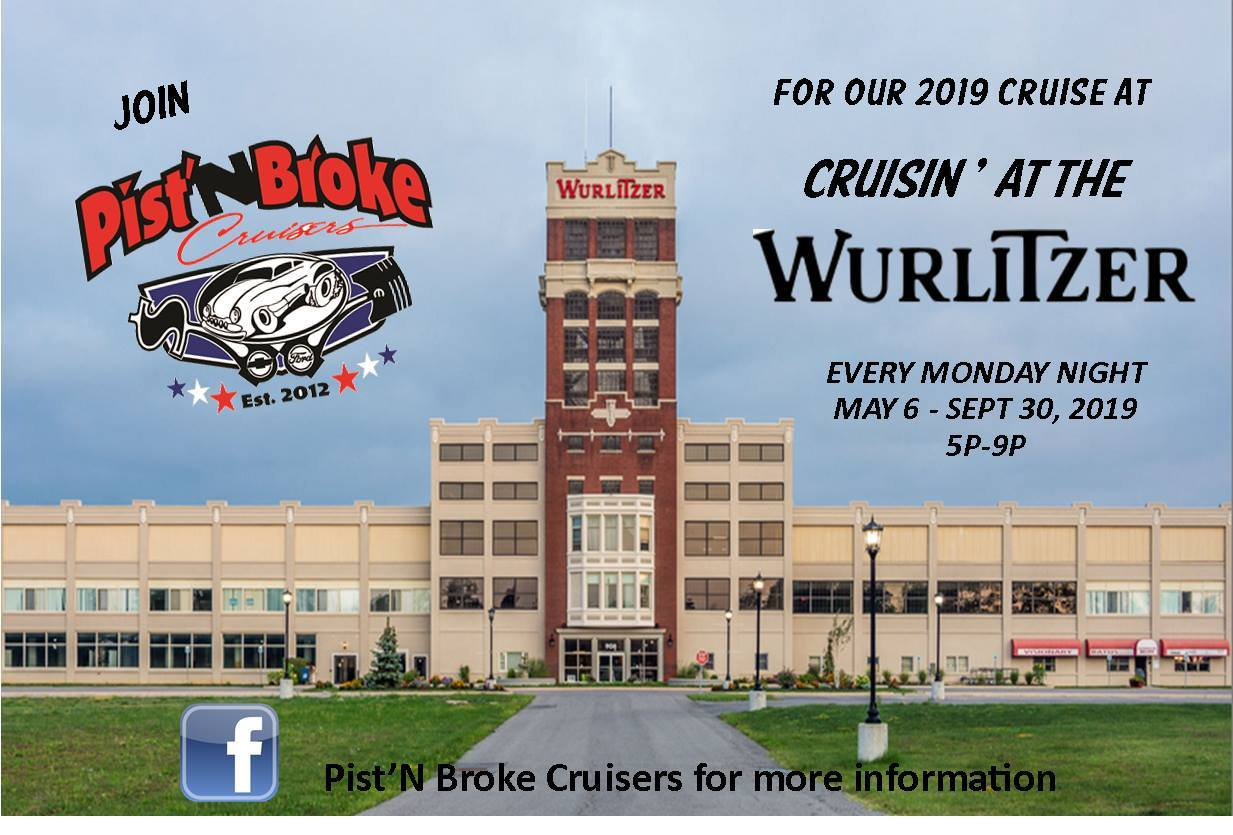 Cruisin' at the Wurlitzer Car Show 2019 @ Wurlitzer Events