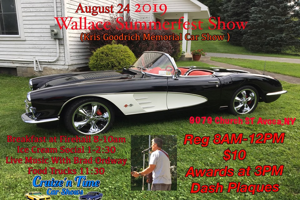 Kris Goodrich Memorial Car Show 2019 @ Wallace Wesleyan Church